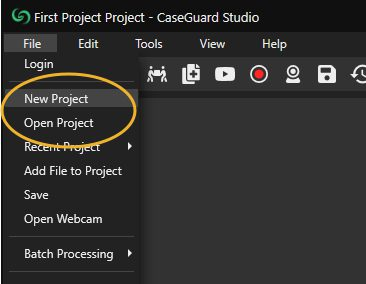 CaseGuard start open project