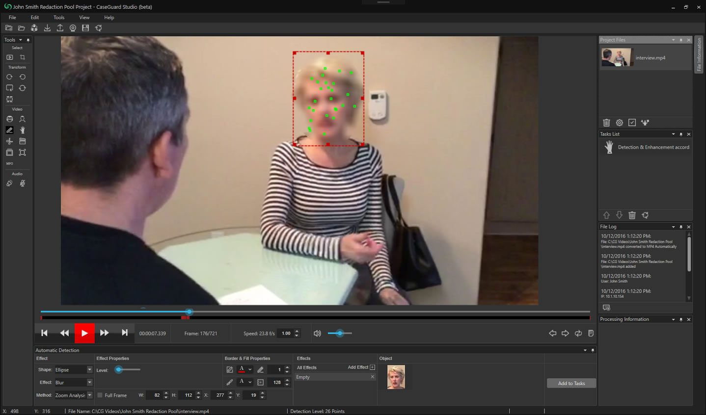 Video Redaction and Enhancement Software