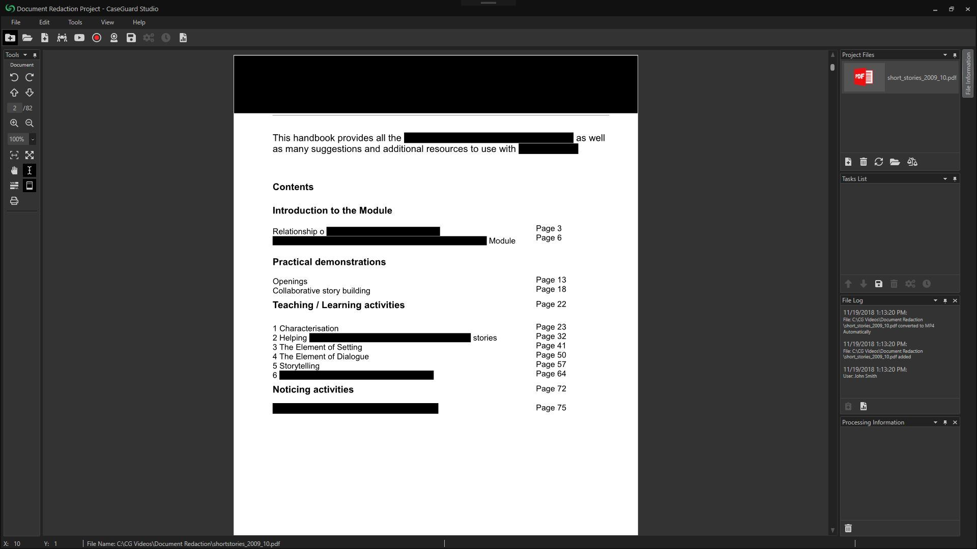 CaseGuard Document Redaction