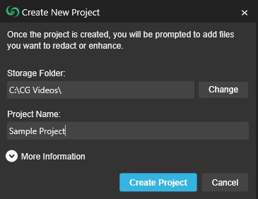 CaseGuard Create New Project