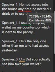 CaseGuard Transcription Confidence Level